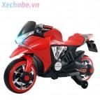 Xe mô tô điện trẻ em G1800 (2 bình, ghế da)