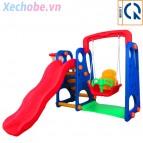 Bộ cầu trượt xích đu bóng rổ trẻ em YGC-3503